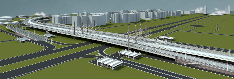 Проект развязки между Пулковским и Дунайским