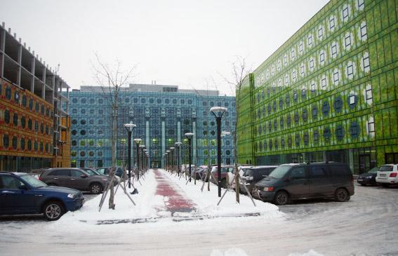 Двор бизнес-центра «Лето», «Зима», «Осень»