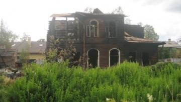 Дача на Сегалевой, 10, после пожара