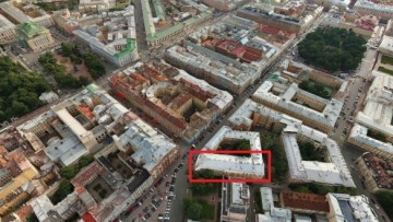 Выкупленная часть здания на Итальянской