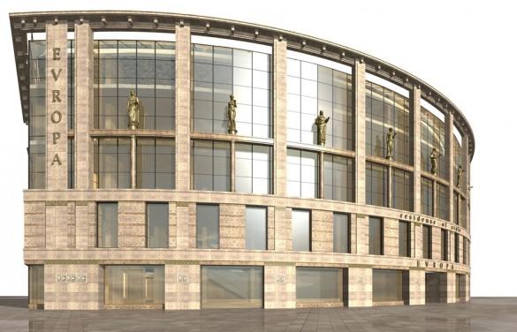 Проект торгового центра на Малом проспекте П. С.