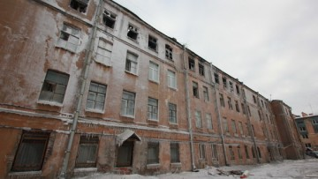 Общежитие в Подъездном переулке, 13, после пожара