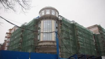 Фасад кинотеатра «Великан» в Александровском парке