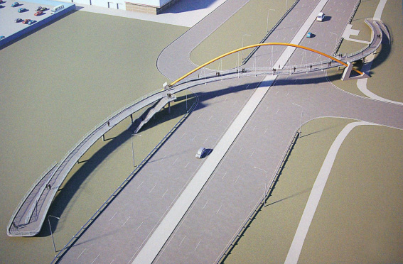 Надземный пешеходный переход над Таллинским шоссе