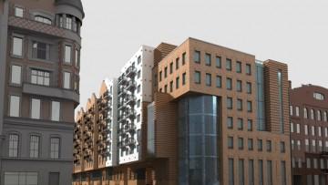 Проект  дома на Лиговском проспекте, 123. Угол Лиговского и Рязанского переулка