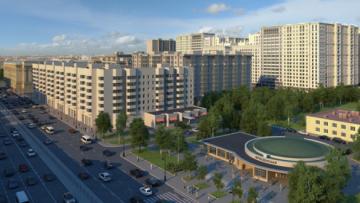 Вид на жилой комплекс «Времена года» со стороны Московского проспекта