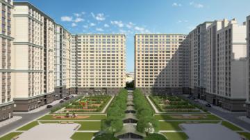 Двор жилого комплекса «Времена года» на Московском проспекте. Проект