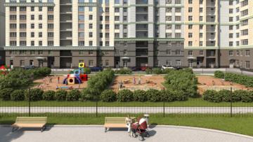 Проект жилого комплекса «Времена года». Вид со стороны двора