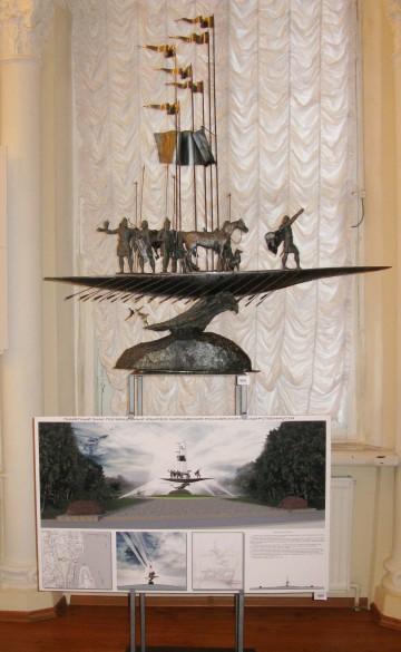 Проект памятника конунгу Рюрику в Старой Ладоге