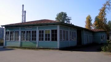 Сгоревший вокзал на станции Новая Деревня