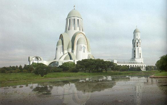 Проект храма в парке Малиновка