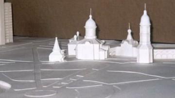 Макет храмого комплекса в саду на Демьяна Бедного