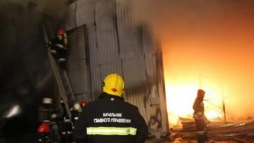 Тушение пожара на складах, Лиговский, 252