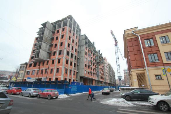 Стройка жилого дома на Лиговском, 123