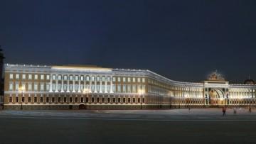 Проект Натальи Копцевой и Василия Тарасенко, подсветка Главного штаба