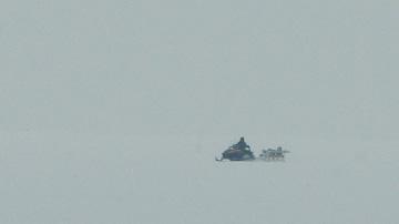 Снегоход на Финском заливе
