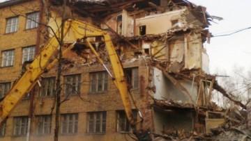 Снос общежития на Хлопина