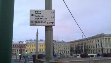 Указатель «Съездовская линия»