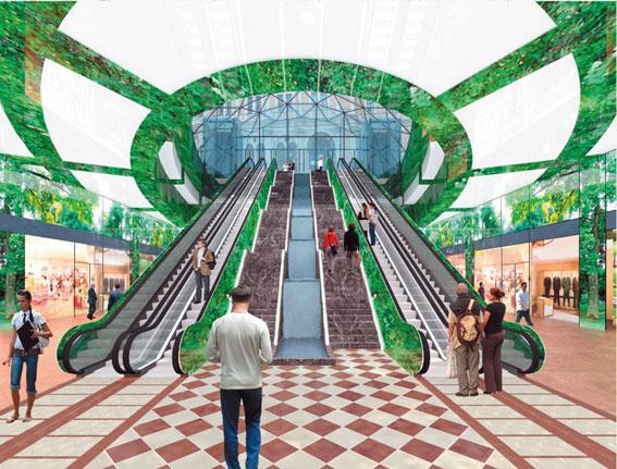 Проект торгового комплекса под площадью Восстания
