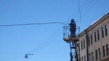 Дровяная улица, восстановление проводов
