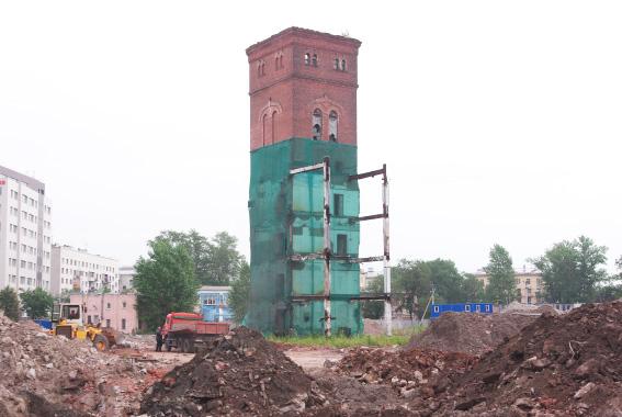 Башня Охтинской бумагопрядильной мануфактуры