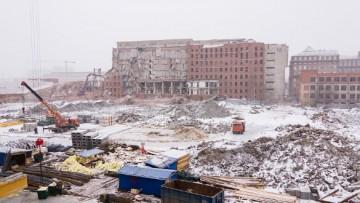 Снос здания «Электросилы» на Московском проспекте