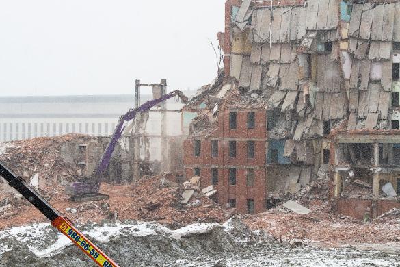 Снос здания «Электросилы» на Московском