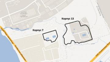 Два земельных участка на Октябрьской набережной, 118, корпус 7 и 13