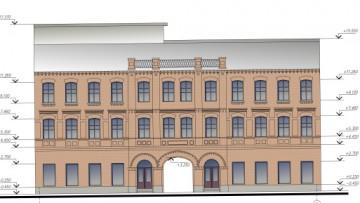 Фасад «Красных» бань на Московском проспекте, 55