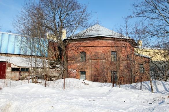 Квартиры садовников в Дворцовые теплицах, вид со двора