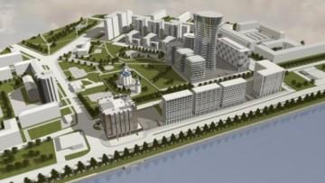 Проект бизнес-центра на Малоохтинском проспекте, вид на набережную