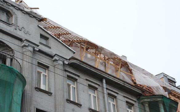 Строительство мансарды над домом Васильева на 12-й Красноармейской, 3