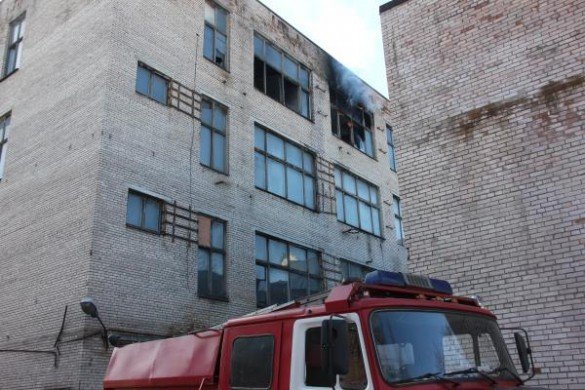 Пожар на фабрике на Заставской улице, 15