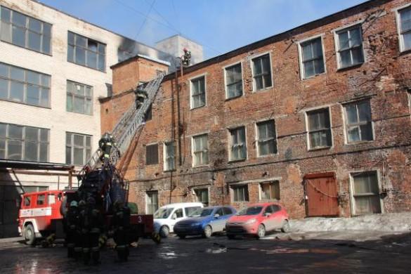 Пожар на фабрике на Заставской улице