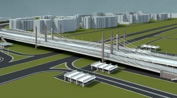 Путепровод на пересечении Пулковского шоссе и Дунайского проспекта