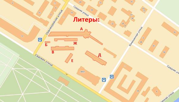 План расположения зданий