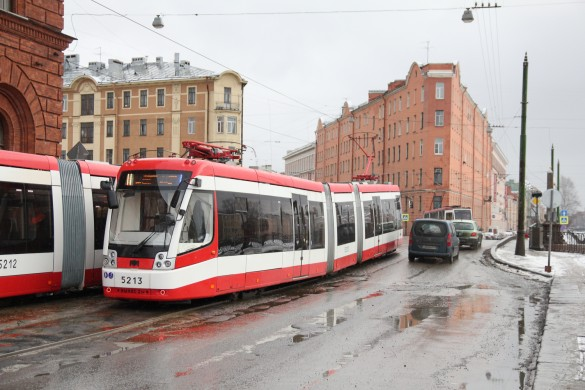 Челночный трамвай на Садовой