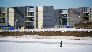 Строительство спорткомплекса на Бычьем острове