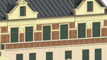 Модели зданий на улицах Красина, Сторожевой башни, Красноармейской, Крепостной