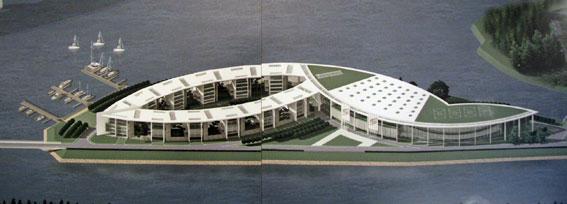 Проект спорткомплекса на Бычьем острове