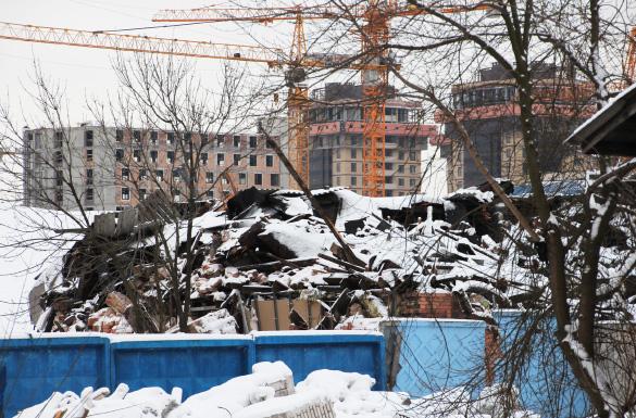 Снесенный пакгауз на Варшавском вокзале