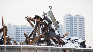 Снесенный пакгауз на Варшавском