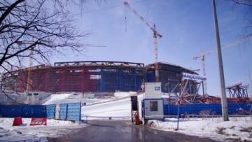 Строительство стадиона на Крестовском