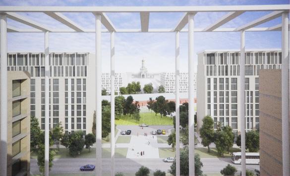 Проект зданий за Варшавским вокзалом