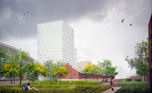 Здания на территории за Варшавским вокзалом, проект