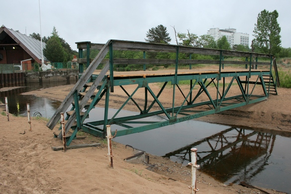 Водосливной канал, мост
