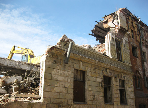 Снос зданий в Выборге
