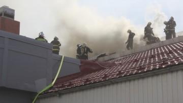 Пожар ТРК «Континет» на Ленсовета