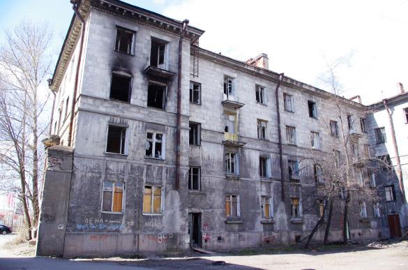 Заброшенный дом на Магнитогорской, 57, вид со двора