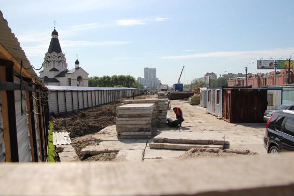 Метро «Проспект Славы», место строительства